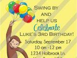 Curious George Birthday Invites Curious George Invitation orderecigsjuice Info
