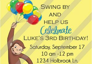 Curious George Birthday Invites Curious George Invitation orderecigsjuice Info