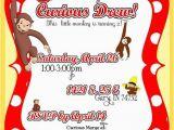 Curious George Birthday Invites Diy Printable but Customized Curious George Monkey Invitation