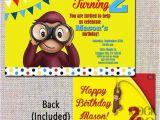 Curious George Birthday Invites Items Similar to Curious George Birthday Invitation Look