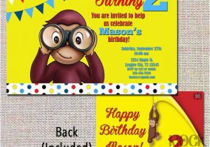 Curious George Birthday Invites Items Similar to Curious George Birthday Invitation Look