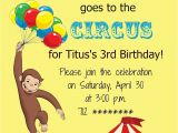 Curious George Birthday Invites the Fast Lane Freebie Friday Curious George