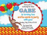 Curious George Birthday Invites Unique Ideas for Curious George Birthday Invitations