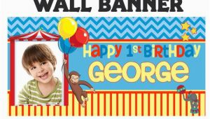 Curious George Happy Birthday Banner Curious George Happy Birthday Banner Personalize by Bannersusa