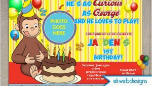 Curious George Photo Birthday Invitations Curious George Birthday Invitations Custom Photo Invite