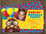 Curious George Photo Birthday Invitations Personalized Curious Birthday Party Invites Colorful Design