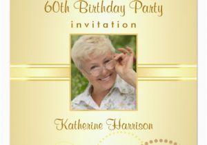 Custom 60th Birthday Invitations 60th Birthday Party Custom Photo Invitations Zazzle