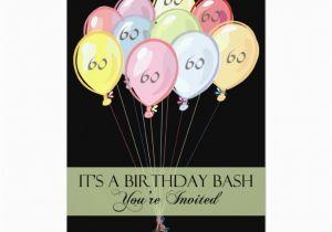 Custom 60th Birthday Invitations 60th Birthday Party Personalized Invitation Zazzle