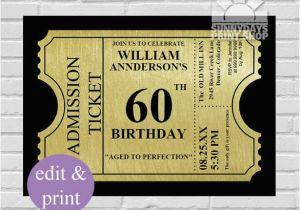 Custom 60th Birthday Invitations Custom 60th Birthday Invitations Hnc
