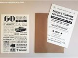 Custom 60th Birthday Invitations Personalized 60th Birthday Invitations 1956 by