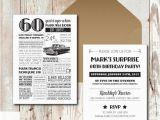 Custom 60th Birthday Invitations Personalized 60th Birthday Invitations 1957 events