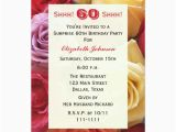 Custom 60th Birthday Invitations Surprise 60th Birthday Party Invitation Roses Zazzle Com