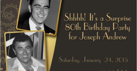 Custom 80th Birthday Invitations 26 80th Birthday Invitation Templates Free Sample