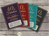 Custom 80th Birthday Invitations 30th 40th 50th 60th 70th 80th Birthday Invitation Fabulous