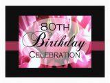 Custom 80th Birthday Invitations Personalized 80th Birthday Party Invitations Zazzle