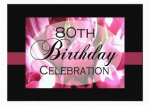 Custom 80th Birthday Invitations Personalized Party Zazzle