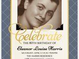 Custom 80th Birthday Invitations Vintage Photo Birthday Party Invitation 80th Birthday