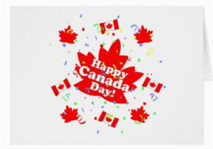 Custom Birthday Cards Canada Happy Canada Day Party Greeting Card Zazzle