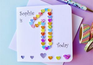 Custom Birthday Cards Uk 1st Card Personalised First