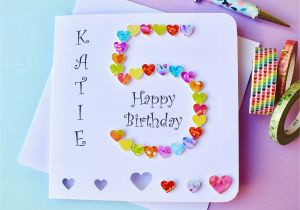 Custom Birthday Cards Uk 5th Card Personalised Age 5 Handmade