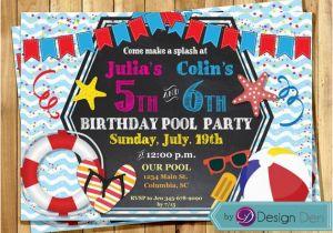 Custom Birthday Invitations for Kids Custom Summer Pool Birthday Party Invitations Kids Joint