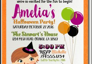 Custom Birthday Invitations for Kids Kids Halloween Costume Party Invitation Kids Halloween
