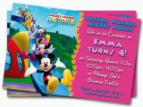 Custom Birthday Invitations for Kids Minnie Mouse Birthday Invitations Printable Custom Kids