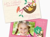 Custom Birthday Invitations for Kids Sloth Personalized Kids Birthday Party Invitations Bella Bug