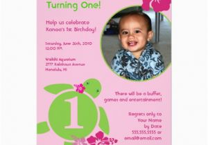 Custom Birthday Invitations with Photo Aloha Honu Custom Photo Card Birthday Invitation Zazzle
