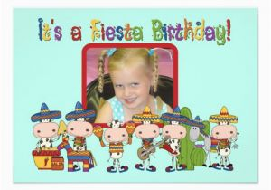 Custom Birthday Invitations with Photo Custom Photo Fiesta Birthday Invitation Zazzle Ca