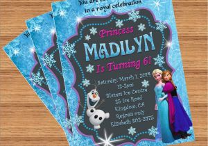 Custom Birthday Invitations with Photo Frozen Birthday Invitation Custom Invitation