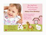 Custom Birthday Invitations with Photo Girl Farm Animal Custom Photo Birthday Invitations Zazzle