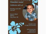 Custom Birthday Invitations with Photo Hawaiian Luau Custom Photo Birthday Invitation Zazzle Com