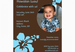 Custom Birthday Invitations with Photo Hawaiian Luau Custom Photo Birthday Invitation Zazzle Com