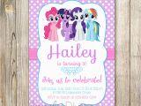 Custom Birthday Invitations with Photo My Little Pony Personalized Birthday Invitations