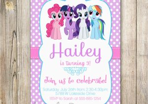 Custom Birthday Invitations with Photo My Little Pony Personalized Birthday Invitations