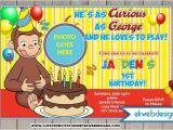 Custom Curious George Birthday Invitations Curious George Birthday Invitations Custom Photo Invite