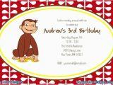 Custom Curious George Birthday Invitations Curious George Printable Invitation Custom Birthday Party