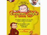 Custom Curious George Birthday Invitations Personalized Curious George Party Invitations Thank You