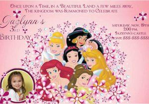 Custom Disney Princess Birthday Invitations Invitation