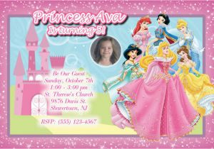 Custom Disney Princess Birthday Invitations Personalized Princesses Party