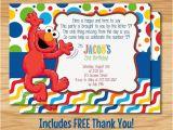 Custom Elmo Birthday Invitations Custom Made Elmo Birthday Invitation Elmo Birthday Elmo