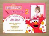 Custom Elmo Birthday Invitations Custom Pink Elmo Girl Birthday Invitation Digital File