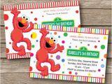 Custom Elmo Birthday Invitations Elmo Invitation Birthday Party Personalized by Redapplestudio