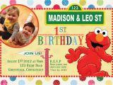 Custom Elmo Birthday Invitations Items Similar to Custom Birthday Invitations Sesame