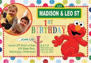 Custom Elmo Birthday Invitations Items Similar To Sesame