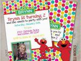 Custom Elmo Birthday Invitations Little Girl Custom Elmo Birthday Party Invitation Sesame