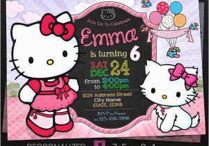 Custom Hello Kitty Birthday Invitations 8 Hello Kitty Photo Invitations Designs Templates