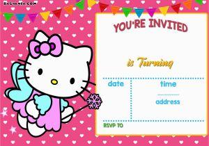 Custom Hello Kitty Birthday Invitations Free Personalized Hello Kitty Birthday Invitations Free