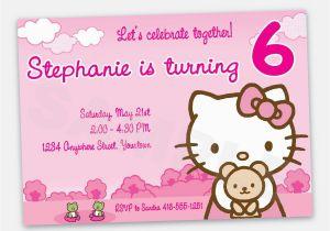 Custom Hello Kitty Birthday Invitations Hello Kitty Birthday Invitation Wording Best Party Ideas